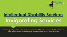 Intellectual Disability Services | Invigorating Services