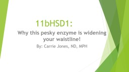 11bHSD1:  Why this pesky enzyme is widening your waistline!