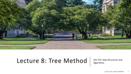 Lecture 8: Tree Method