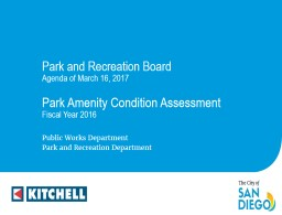 Park Amenity Condition Assessment
