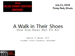 A Walk in Their Shoes