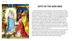 Cards 17-20 GIFTS OF THE WISE MEN