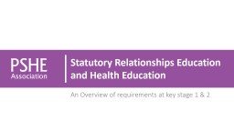 Getting your PSHE education ready for statutory Relationships Education, Health Education and the new Ofsted framework