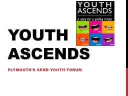 Youth ASCENDS Plymouth's SEND youth forum