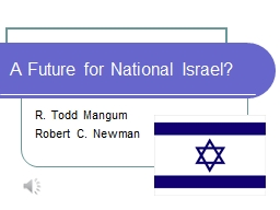 A Future for National Israel?