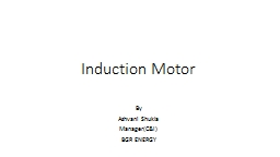 Induction Motor By