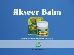 Learn how the Ayurvedic Medicine Akseer Balm is employed in
