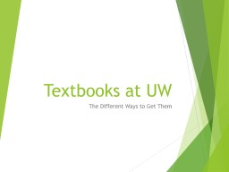 Textbooks at UW The Different Ways to Get Them