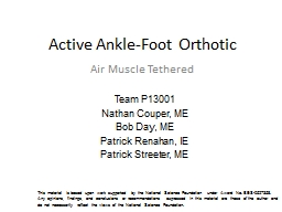 Active Ankle-Foot Orthotic
