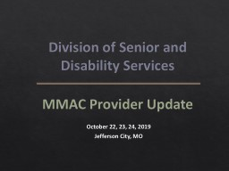 Division of Senior and Disability Services