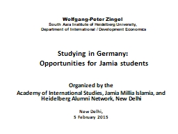 Studying in Germany: