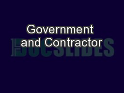 Government and Contractor