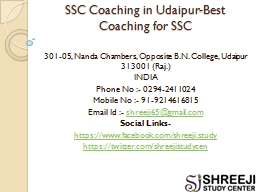 SSC Coaching in Udaipur-Best Coaching for SSC
