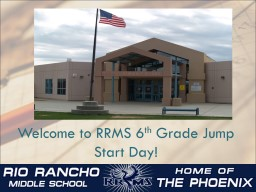 Welcome to RRMS 6 th