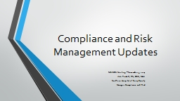 Compliance and Risk Management Updates