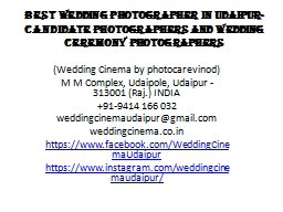 Best Wedding Photographer in Udaipur- Candidate photographers and wedding ceremony photographers