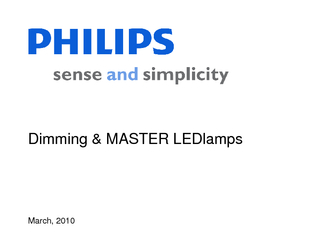 March  Dimming  MASTER LEDlamps  March  Background Rec PowerPoint PPT Presentation