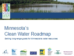 Setting long-range goals for Minnesota's water resources
