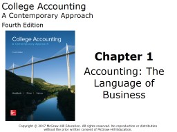 College Accounting A Contemporary Approach PowerPoint PPT Presentation