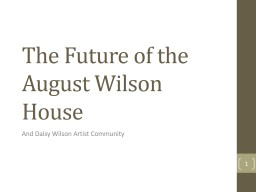 The Future of the August Wilson House