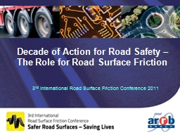 Decade of Action for Road Safety –