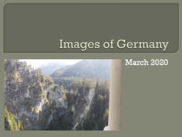 Images of Germany March 2020