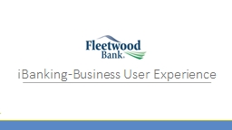 iBanking -Business User Experience