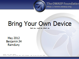 Bring Your Own Device PowerPoint PPT Presentation