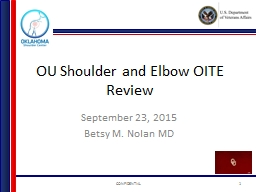OU Shoulder and Elbow OITE Review