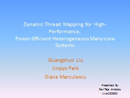 Dynamic Thread Mapping for High-Performance,