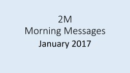 2M Morning Messages