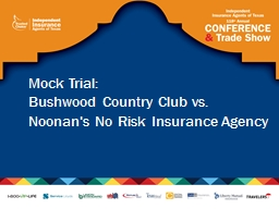 Mock Trial: Bushwood