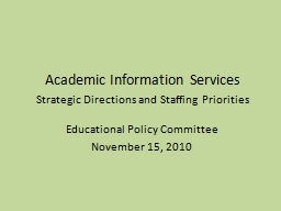 Academic Information Services