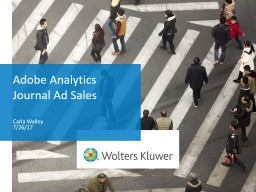 Adobe Analytics Journal Ad Sales