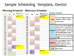 Sample  Scheduling Template