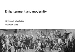 Enlightenment and modernity