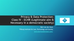 Privacy & Data