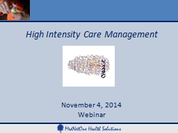 High Intensity Care Management