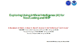 Exploring Using Artificial Intelligence (AI) for