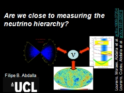 Are we close to measuring the neutrino hierarchy?
