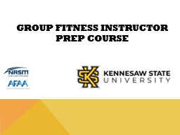 Group Fitness Instructor Prep Course