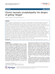 REVIEW Open Access Chronic traumatic encephalopathy th