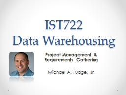 IST722  Data Warehousing