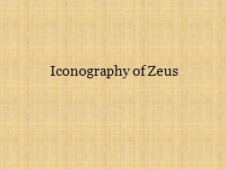 Iconography of Zeus