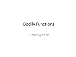 Bodily Functions Human Systems