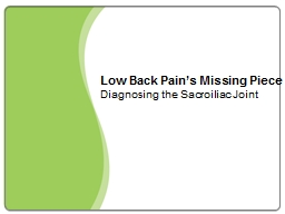 Low  Back  Pain's Missing Piece
