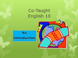 Co-Taught  English 10