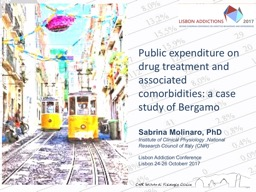 Public  expenditure on drug treatment and associated comorbidities: a case study of Bergamo