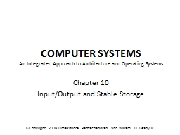 Computer Systems An Integrated Approach to Architecture and Operating Systems