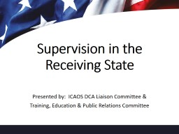 Supervision in the Receiving State